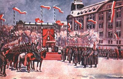 Uroczysta przysięga powstańców wielkopolskich