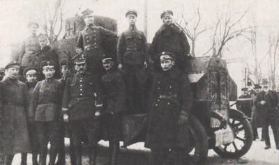 Niemiecki samochód pancerny zdobyty dnia 7 lutego 1919 przez Kompanię Rogozińską pod dowództwem Wiktora Skotarczaka